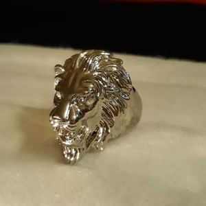 Men's Silver Lions Ring